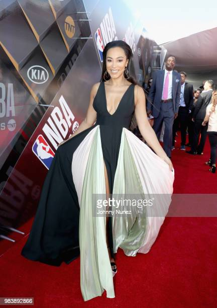 Angela Rye attends 2018 NBA Awards at Barkar Hangar on June 25 2018 in Santa Monica California