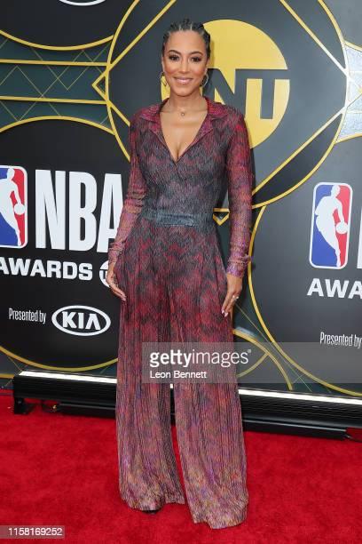 Angela Rye attends 2019 NBA Awards at Barker Hangar on June 24 2019 in Santa Monica California