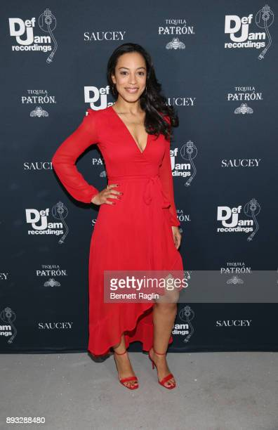 Angela Rye attends as Def Jam Recordings Celebrates the Holidays with Patron Tequila at Spring Place on December 14 2017 in New York City
