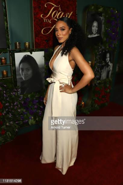 Angela Rye attends Common's 5th Annual Toast to the Arts at Ysabel on February 22 2019 in West Hollywood California