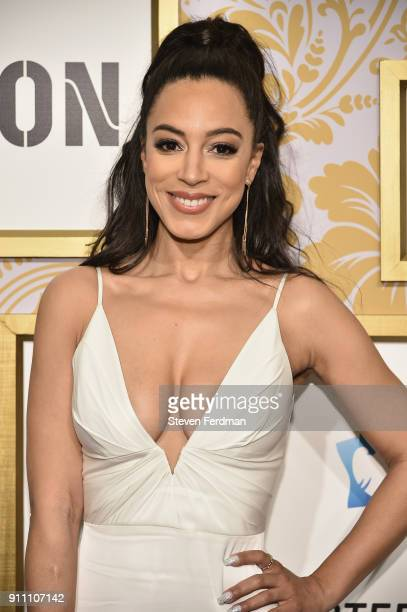Angela Rye attends the 2018 Roc Nation PreGrammy Brunch at One World Trade Center on January 27 2018 in New York City