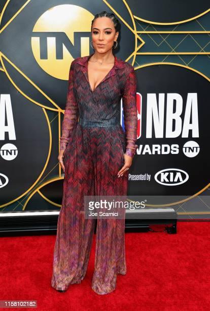 Angela Rye attends the 2019 NBA Awards presented by Kia on TNT at Barker Hangar on June 24 2019 in Santa Monica California