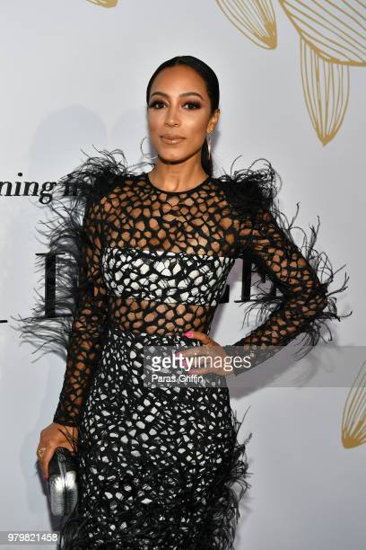 Angela Rye attends the Debra Lee PreBET Awards Dinner at Vibiana on June 20 2018 in Los Angeles California