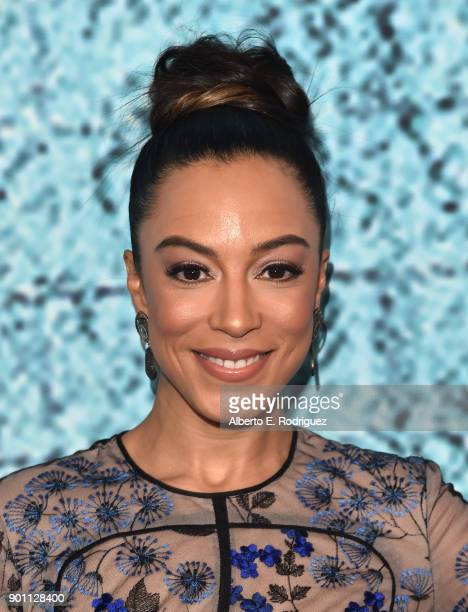 Angela Rye attends the premiere of Showtime's 'The Chi' at The Downtown Independent on January 3 2018 in Los Angeles California