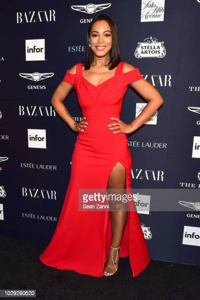 Angela Rye attends The Worldwide Editors Of Harper's Bazaar Celebrate ICONS by Carine Roitfeld presented by Infor Stella Artois FUJIFILM Estee Lauder...