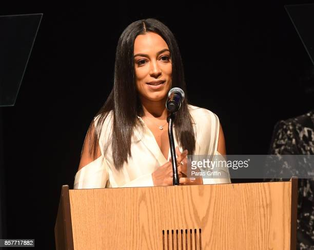 Angela Rye speaks onstage at 96th Birthday Celebration For Dr Joseph Lowery at Rialto Center for the Arts on October 4 2017 in Atlanta Georgia