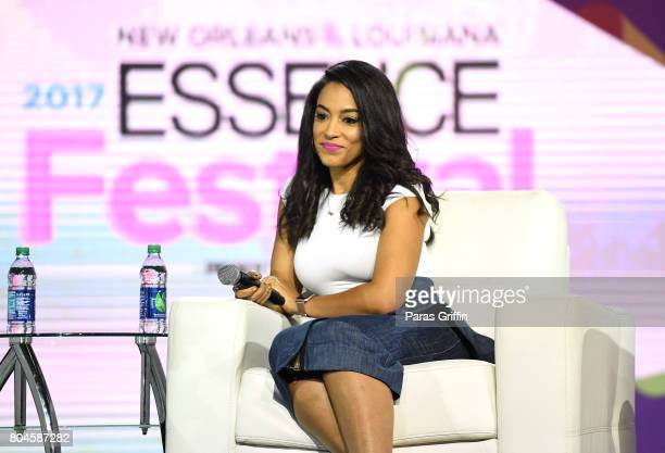 Angela Rye speaks onstage at the 2017 ESSENCE Festival presented by CocaCola at Ernest N Morial Convention Center on June 30 2017 in New Orleans...