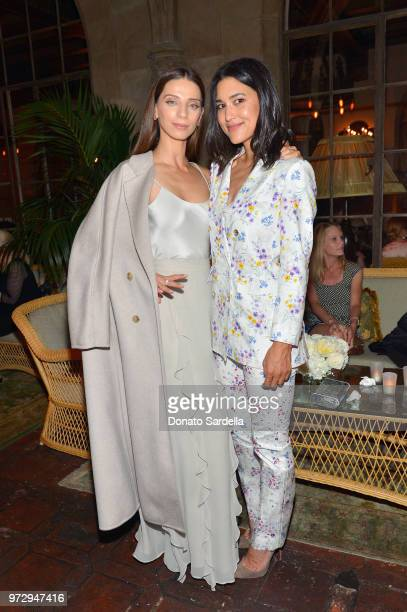Angela Sarafyan and Julia Jones wearing Max Mara attend the Max Mara Celebration for Alexandra Shipp 2018 Women In Film Max Mara Face Of The Future...