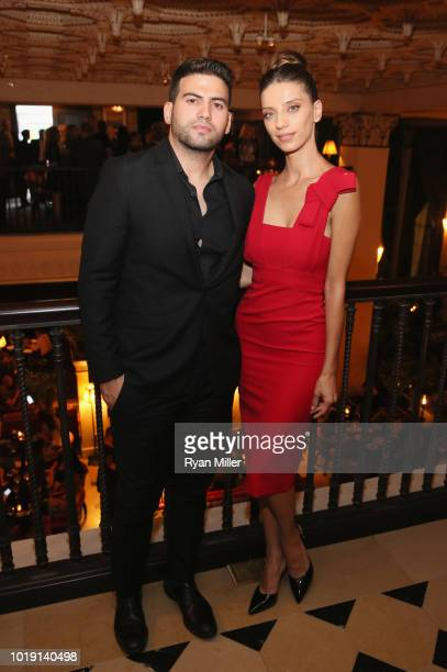 Angela Sarafyan and Karbis Sarafyan attend Harper's BAZAAR and the CDG celebrate Excellence in Television Costume Design with the Emmy Nominated...
