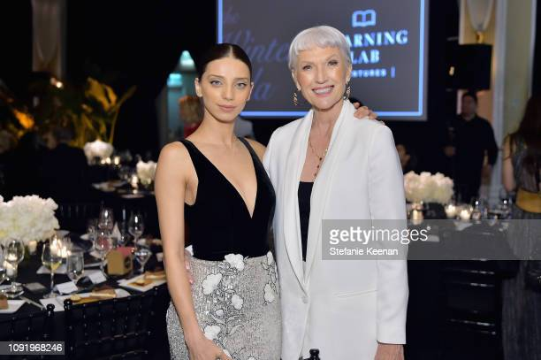 Angela Sarafyan and Maye Musk attend Learning Lab Ventures 2019 Gala Presented by Farfetch at Beverly Hills Hotel on January 31 2019 in Beverly Hills...
