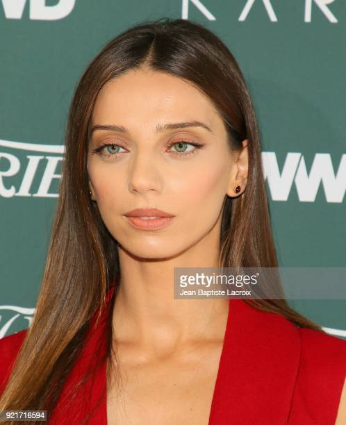 Angela Sarafyan arrives to the Council of Fashion Designers of America luncheon held at Chateau Marmont on February 20 2018 in Los Angeles California