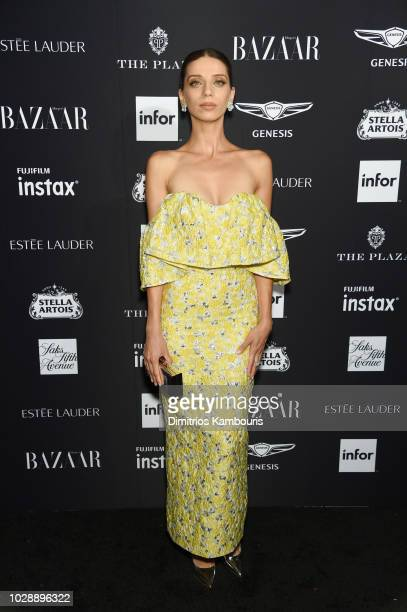 Angela Sarafyan attends as Harper's BAZAAR Celebrates ICONS By Carine Roitfeld at the Plaza Hotel on September 7 2018 in New York City