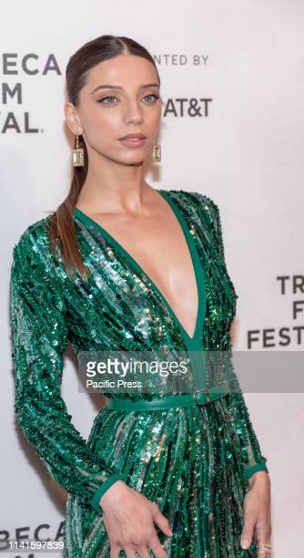 Angela Sarafyan attends Extremely Wicked Shockingly Evil And Vile during 2019 Tribeca Film Festival at The Stella Artois Theatre Manhattan