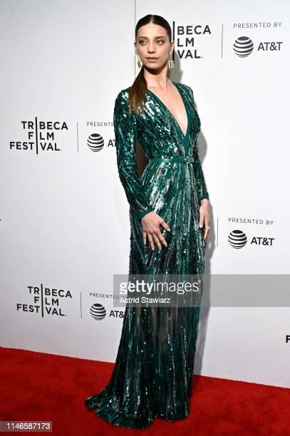Angela Sarafyan attends Netflix's Extremely Wicked Shockingly Evil and Vile Tribeca Film Festival Premiere at BMCC Tribeca Performing Arts Center on...