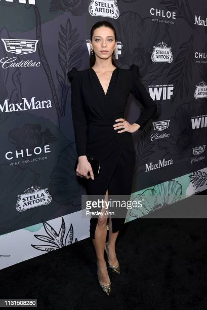 Angela Sarafyan attends the 12th Annual Women in Film Oscar Nominees Party Presented by Max Mara with additional support from Chloe Wine Collection...