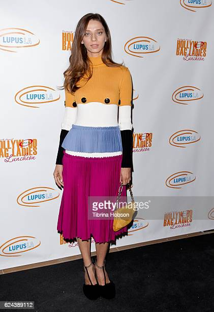 Angela Sarafyan attends the 14th annual Lupus LA Hollywood Bag Ladies Luncheon at The Beverly Hilton Hotel on November 18 2016 in Beverly Hills...