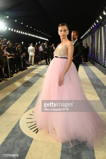 Angela Sarafyan attends the 2019 Vanity Fair Oscar Party hosted by Radhika Jones at Wallis Annenberg Center for the Performing Arts on February 24...