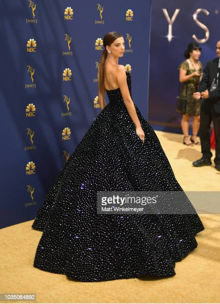Angela Sarafyan attends the 70th Emmy Awards at Microsoft Theater on September 17 2018 in Los Angeles California