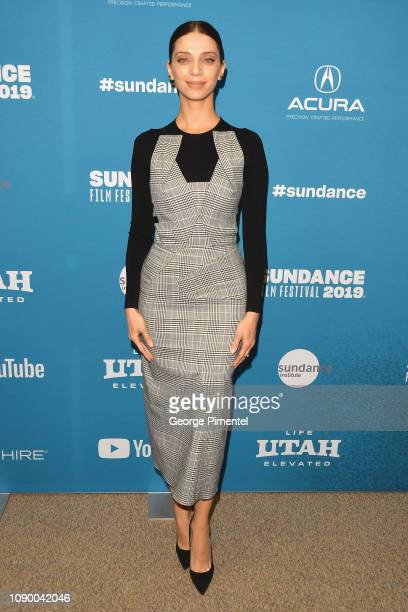 Angela Sarafyan attends the Extremely Wicked Shockingly Evil And Vile Premiere during the 2019 Sundance Film Festival at Eccles Center Theatre on...