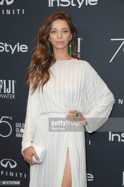Angela Sarafyan attends the Hollywood Foreign Press Association and InStyle celebrate the 75th Anniversary of The Golden Globe Awards at Catch LA on...