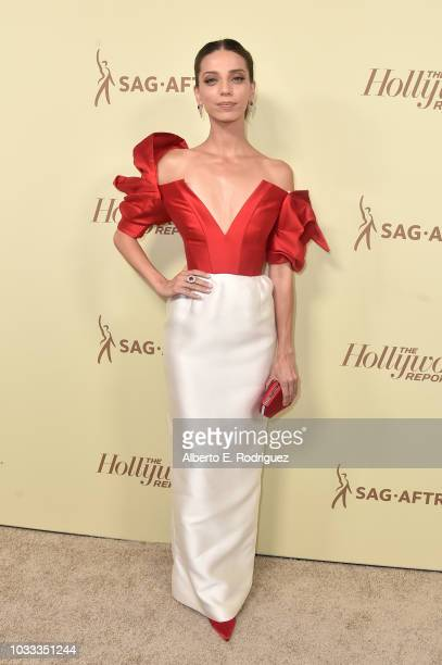 Angela Sarafyan attends The Hollywood Reporter and SAGAFTRA Annual Nominees Night to celebrate Emmy Award contenders at Avra Beverly Hills Estiatorio...