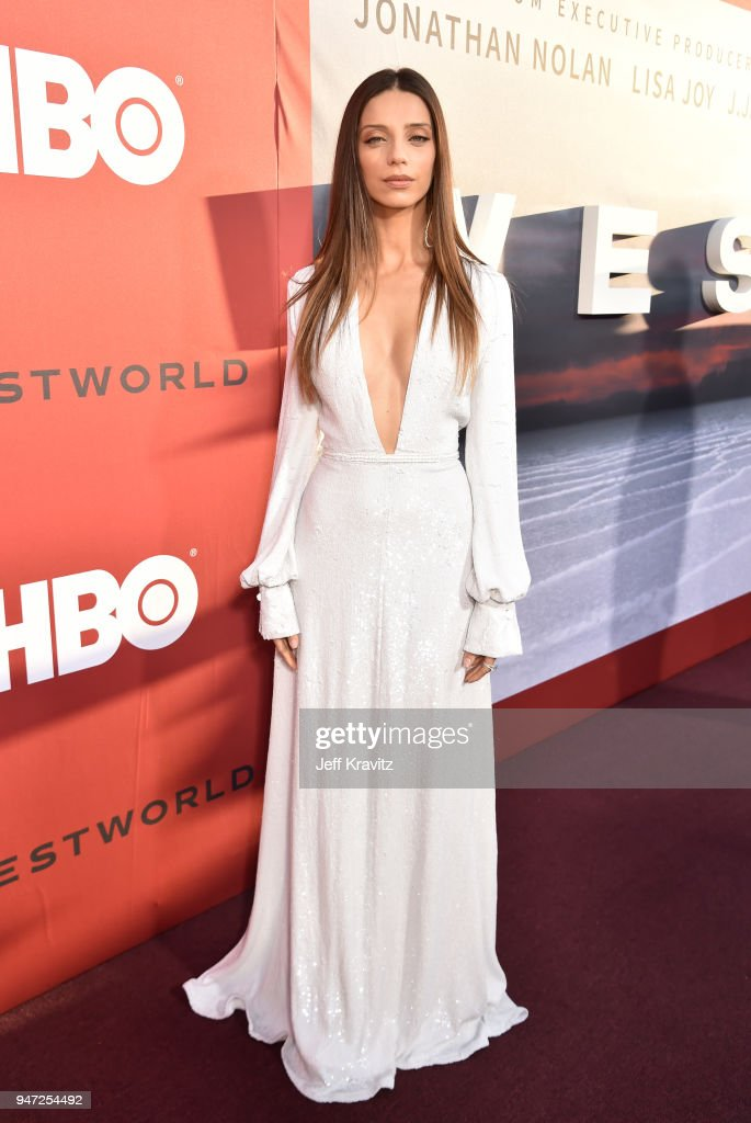Angela Sarafyan attends the Los Angeles Season 2 premiere of the HBO Drama Series WESTWORLD at The Cinerama Dome on April 16, 2018 in Los Angeles, California.