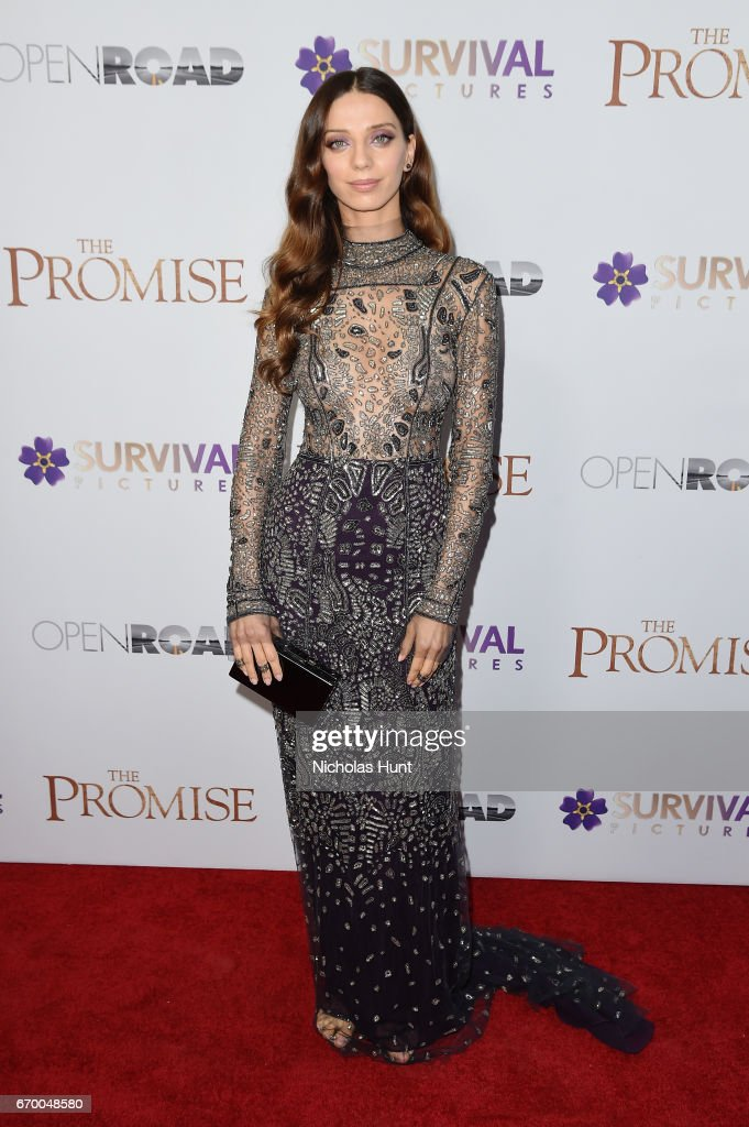 Angela Sarafyan attends the New York Screening of 'The Promise' at The Paris Theatre on April 18, 2017 in New York City.