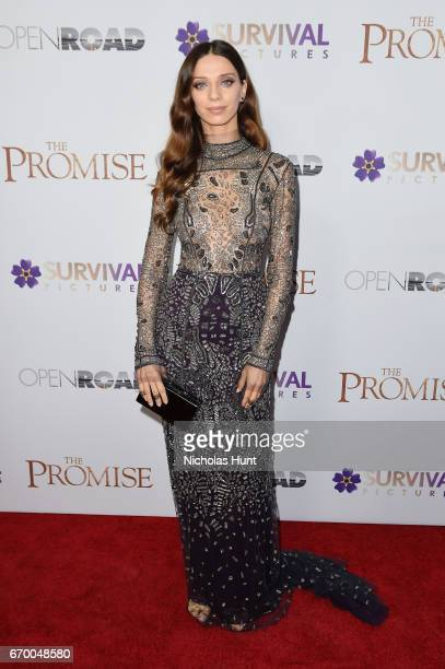 Angela Sarafyan attends the New York Screening of 'The Promise' at The Paris Theatre on April 18 2017 in New York City