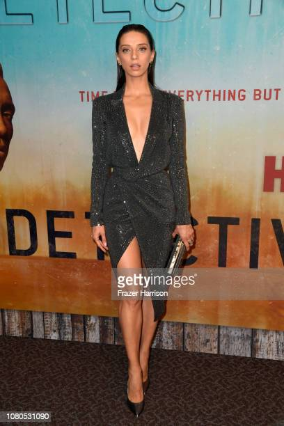 Angela Sarafyan attends the premiere of HBO's 'True Detective' Season 3 at Directors Guild Of America on January 10 2019 in Los Angeles California