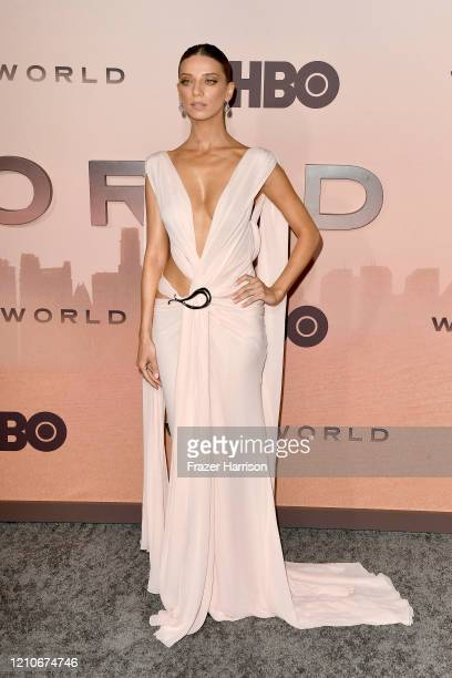 Angela Sarafyan attends the Premiere of HBO's Westworld Season 3 at TCL Chinese Theatre on March 05 2020 in Hollywood California