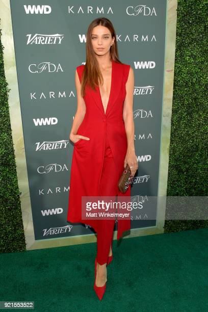 Angela Sarafyan attends the Runway To Red Carpet hosted by Council of Fashion Designers of America Variety and WWD at Chateau Marmont on February 20...