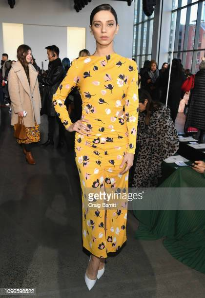 Angela Sarafyan attends the SelfPortrait front row during New York Fashion Week The Shows at Spring Studios on February 9 2019 in New York City