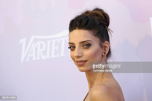 Angela Sarafyan attends the Variety's Celebratory Brunch Event For Awards Nominees Benefitting Motion Picture Television Fund held at Cecconi's on...