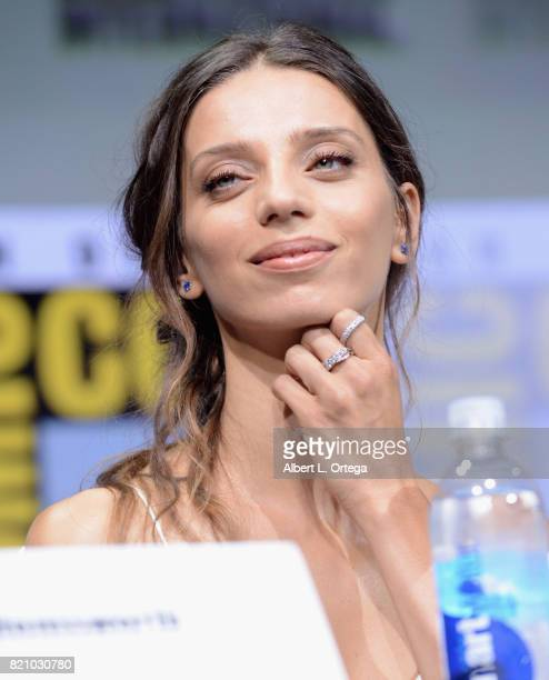 Angela Sarafyan attends the 'Westworld' panel and QA Session during ComicCon International 2017 at San Diego Convention Center on July 22 2017 in San...