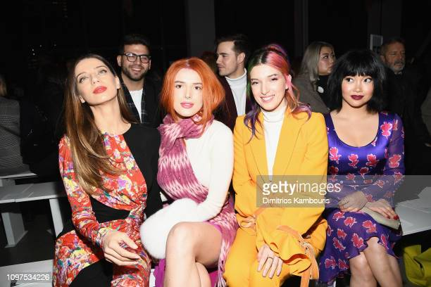 Angela Sarafyan Bella Thorne Dani Thorne and Lana Condor attend the Prabal Gurung front row during New York Fashion Week The Shows at Gallery I at...