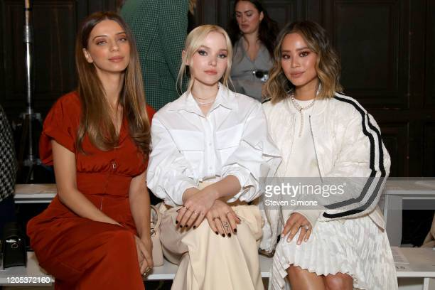 Angela Sarafyan Dove Cameron and Jamie Chung attend the Adeam fashion show during February 2020 New York Fashion Week The Shows at The Highline Hotel...