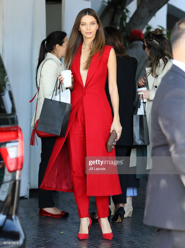 Angela Sarafyan is seen on February 20, 2018 in Los Angeles, California.
