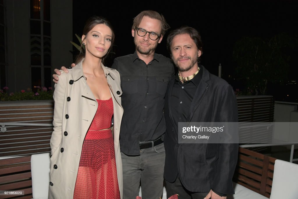 Angela Sarafyan, Jimmi Simpson and Clifton Collins Jr. attend Esquire's 'Mavericks of Hollywood' Celebration presented by Hugo Boss on February 20, 2018 in Los Angeles, California.
