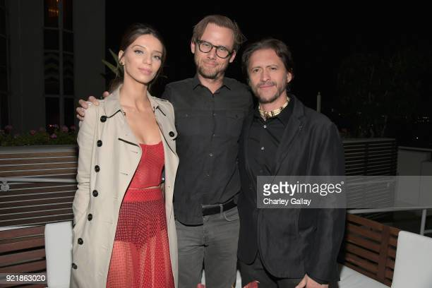 Angela Sarafyan Jimmi Simpson and Clifton Collins Jr attend Esquire's 'Mavericks of Hollywood' Celebration presented by Hugo Boss on February 20 2018...