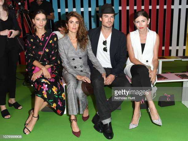 Angela Sarafyan Nikki Reed and Ian Somerhalder attend the Escada Front Row during New York Fashion Week on September 9 2018 in New York City