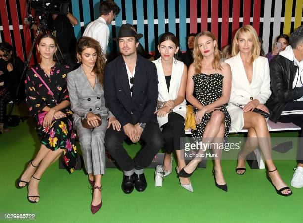 Angela Sarafyan Nikki Reed Ian Somerhalde Kate Bosworth and Amber Valletta attend the Escada Front Row during New York Fashion Week on September 9...