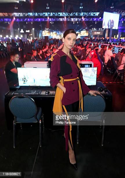 Angela Sarafyan plays World of Warcraft Shadowlands at BlizzCon 2019 at the Anaheim Convention Center in Anaheim CA on Nov 1 2019