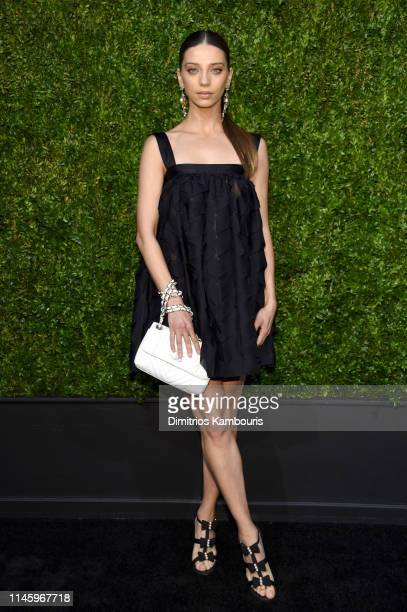 Angela Sarafyan, wearing CHANEL, attends as CHANEL hosts 14th Annual Tribeca Film Festival Artists Dinner at Balthazar on April 29, 2019 in New York...