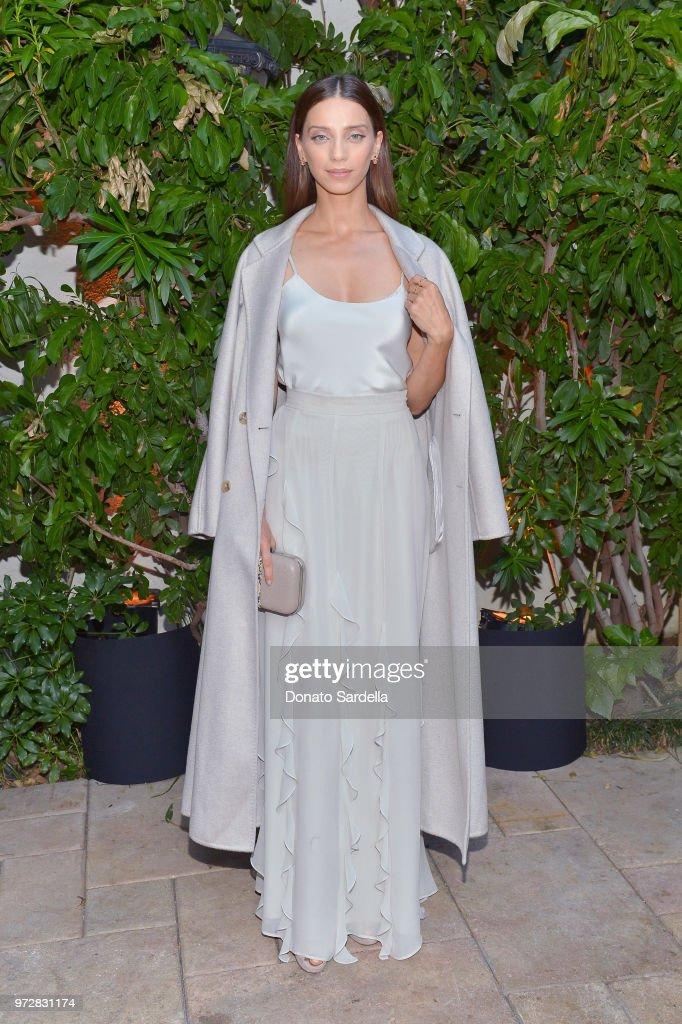 Angela Sarafyan, wearing Max Mara, attends the Max Mara Celebration for Alexandra Shipp, 2018 Women In Film Max Mara Face Of The Future Award Recipient at Chateau Marmont on June 12, 2018 in Los Angeles, California.