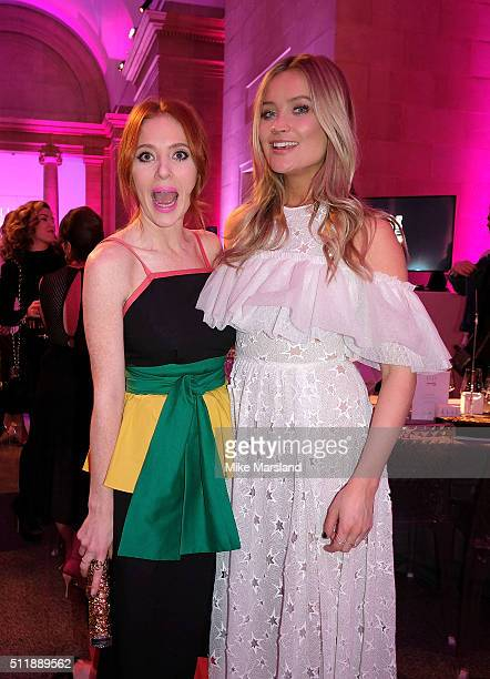 Angela Scanlon and Laura Whitmore attend The Elle Style Awards 2016 on February 23 2016 in London England