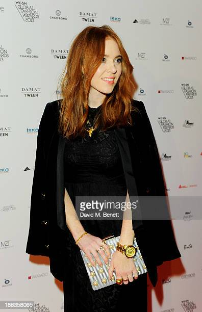 Angela Scanlon arrives at The WGSN Global Fashion Awards at the Victoria Albert Museum on October 30 2013 in London England