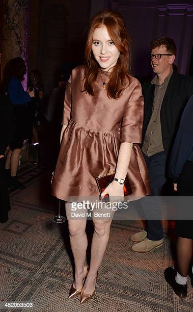 Angela Scanlon attends a VIP private view of 'The Glamour of Italian Fashion 19452014' at the Victoria Albert Museum on April 2 2014 in London England