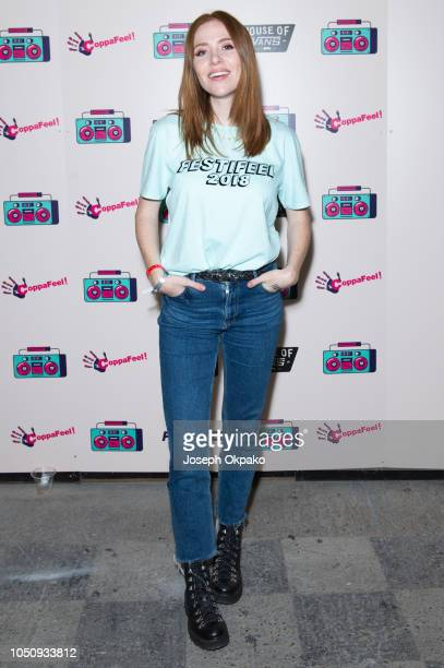 Angela Scanlon attends Festifeel Festival 2018 by Coppafeel at House of Vans on October 6 2018 in London England