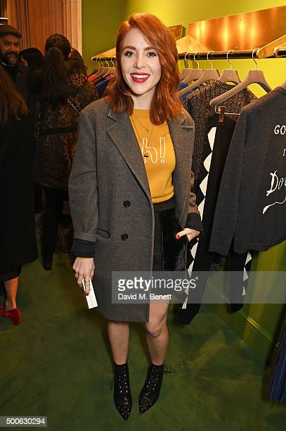 Angela Scanlon attends the Bella Freud store launch in Marylebone on December 9 2015 in London England