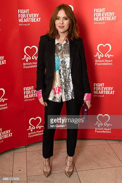 Angela Scanlon attends the British Heart Foundation's Tunnel of Love fundraiser at Victoria Albert Museum on November 11 2015 in London England